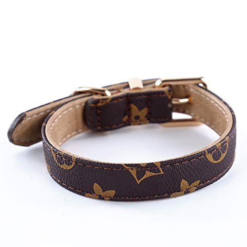 (SuperBuddy Dog Collar Genuine Leather Adjustable Pet Collar for Large,Medium,Small,Dogs)