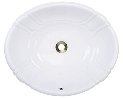Polaris Sinks P5181OW White Porcelain Vessel / Drop In Bathroom Vanity Sink