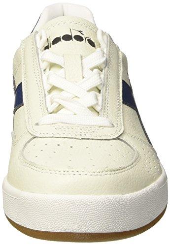 Diadora B.Elite L, Chaussures de Gymnastique Homme Blanc Cassé (Bianco Ottico Blu Estate)