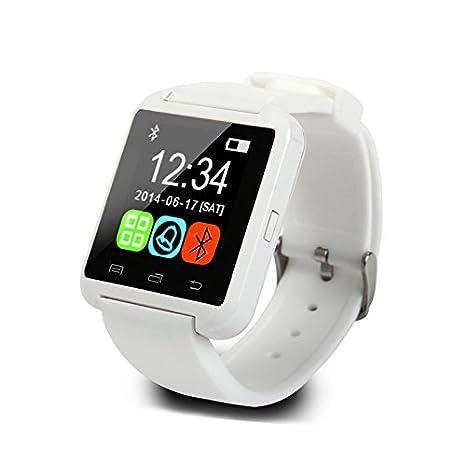 WMWMY Reloj Inteligente de Hombres y Mujeres Relojes Pantalla Táctil Reloj Bluetooth Smart Watch teléfono Android Smart Watch, Blanco: Amazon.es: ...