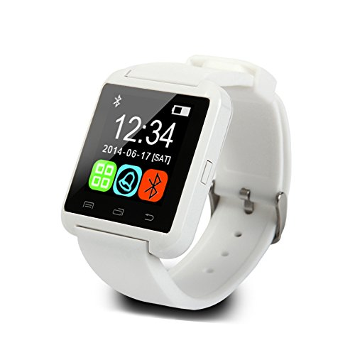 Buyviko U8 Bluetooth Smart Watch Android for Android Phone (White)