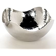 """Hosley 5.75"""" Diameter Silver Finish Metal Bowl, Ideal for Potpourri, LED Candles, Weddings, Special Events, Center Pieces, Craft. Use Decorative Floor Vases Votive Candles to Coordinate O3"""