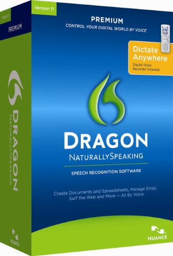 Dragon NaturallySpeaking Premium 11 with Digital Recorder [Old (Talk To Text Software)