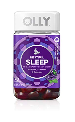 OLLY Restful Sleep Melatonin Gummy, 35 Day Supply (70 Gummies), BlackBerry Zen, L Theanine, Chamomile, Lemon Balm, Chewable Supplement by Olly (Image #10)
