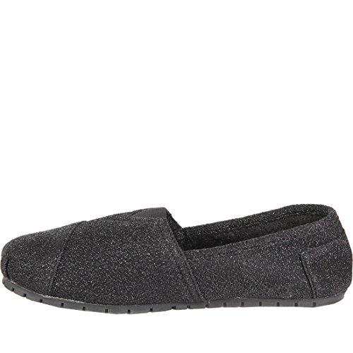 Honden Fleece Gevoerde Loafers Flats Slip Op Schoenen Zwart