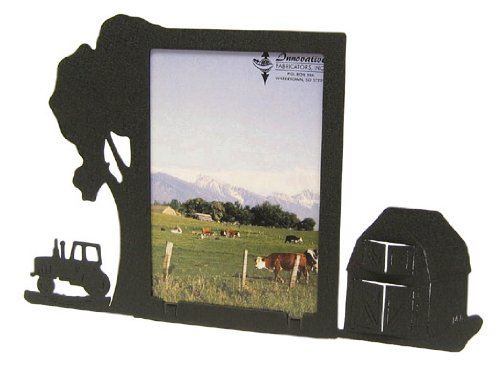 Farm Site Tractor & Barn 3X5 Vertical Picture - Frame Site