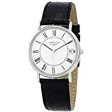 Longines Presence White Dial Black Leather Mens Watch L48194112
