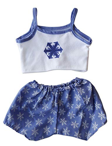 (Snowflake Cami and Shorts Teddy Bear Clothes Outfit Fits Most 14