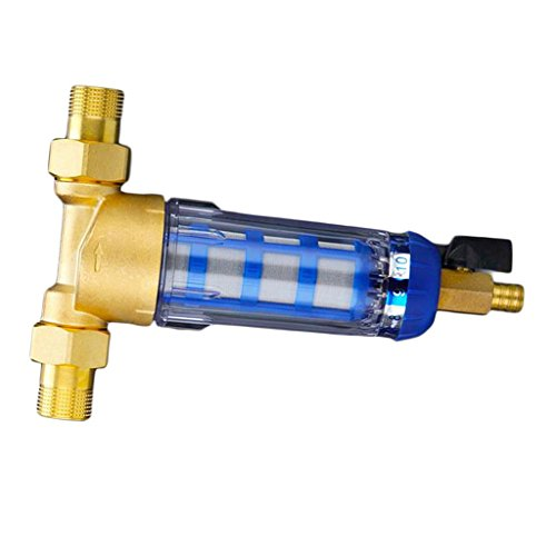 Homyl Various Copper Port Cleaner Pre-Filter Household Whole Health House Filter Pipes Central Water Purifier Descaling 148x211x58mm, (1/2 Inch or 3/4 Inch) - 0.75inch by Homyl (Image #4)