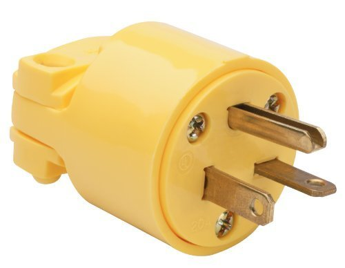 Pass & Seymour Legrand 4509YCC10 20-Amp 250-volt Heavy Duty Plug Yellow, for Heavier Duty Applications by Legrand by Pass & Seymour