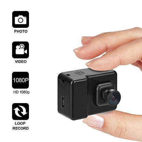 WEKE E5 Mini Camera, Hidden High Definition Portable Small Nanny/Pet Home Surveillance Camera, Black