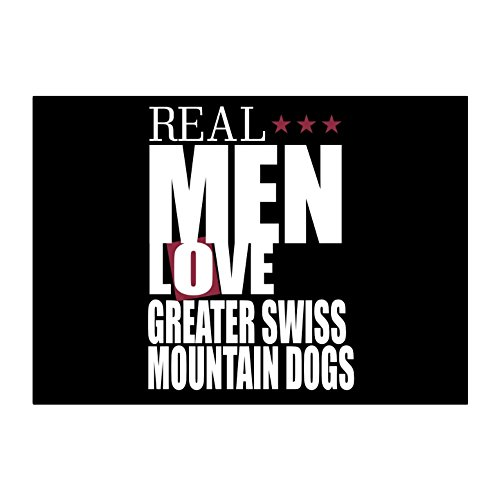 Teeburon Real men love Greater Swiss Mountain Dogs Pack of 4 ()