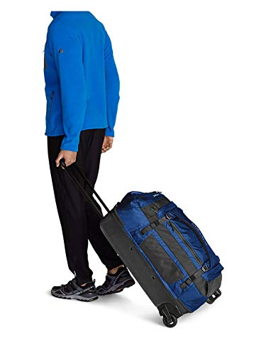 Eddie Bauer Unisex-Adult Expedition Drop-Bottom Rolling Duffel – Large, Sapphire