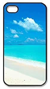 blue beach Polycarbonate Hard Case Cover for iPhone 4/4S Black Christmas gift