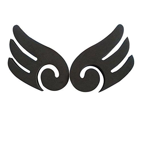 Webot-Car Bumper Guard – Angel Wings Bumper Guard – BLACK COLOR – Door Ding Dent Protectors, Fender Bender Protector, 3m Adhesive