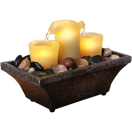 (Wayland Square 3 Piece Led Candle Fountain - Battery)