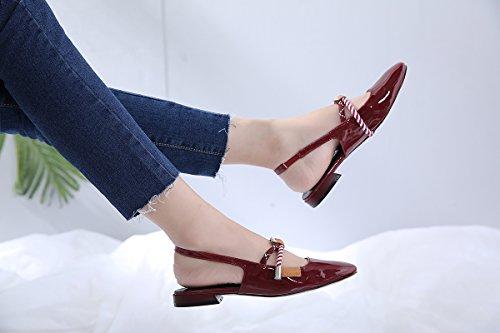 impermeabile Sandals ZHANGJIA Sandali con Fondo Rome With tacco Slope alto spesso Piattaforma Women's Summer IqwxwTC04