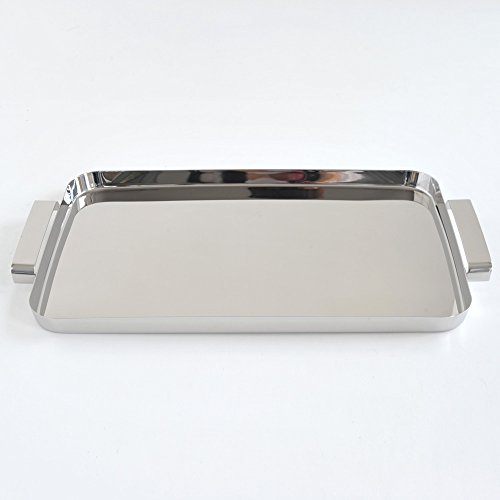 Alessi KL09''''Tau'' Tray With Handles, Silver by Alessi (Image #2)
