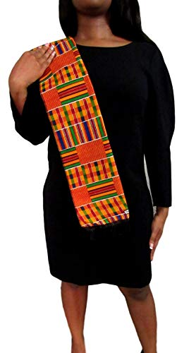 African Kente Scarf, Kente Stole, Kente Cloth, African Scarf, African Print, Black Graduation, Black History, Kwanzaa, Afrocentric, Africa, from Shophaven