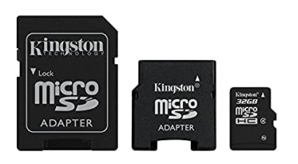 Kingston Technology 32GB microSDHC + 2 adapters 32GB ...