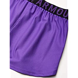 Under Armour Girl's Play Up Solid Workout Gym Shorts