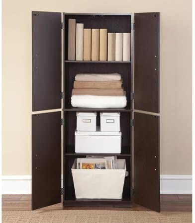 Storage Cabinet - Cinnamon Cherry - Spacious Ample Storage for Kitchen Accessories and Pantry Items & Kitchen Pantries | Amazon.com