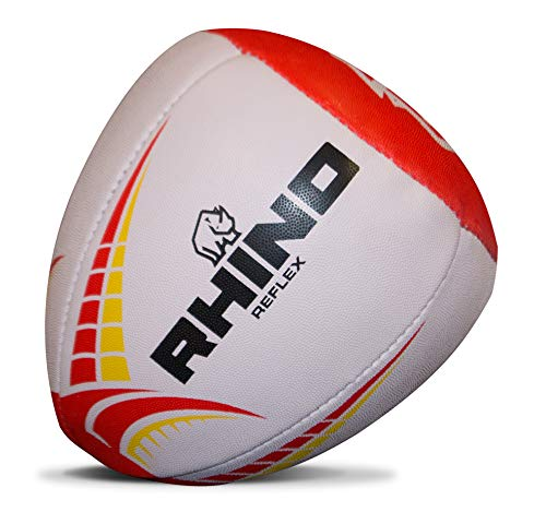 (Rhino Rugby Reflex Practice Rugby Ball)