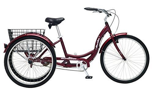 - Schwinn Meridian Full Size Adult Tricycle 26 wheel size Bike Trike, red (Renewed)
