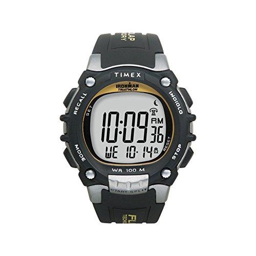 Timex Ironman Traditional 100-Lap - Black/Silver/Yellow Watch 100 Lap Flix Sports Watch