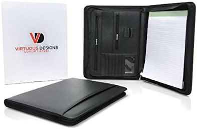 Zippered Portfolio Padfolio Virtuous Designs