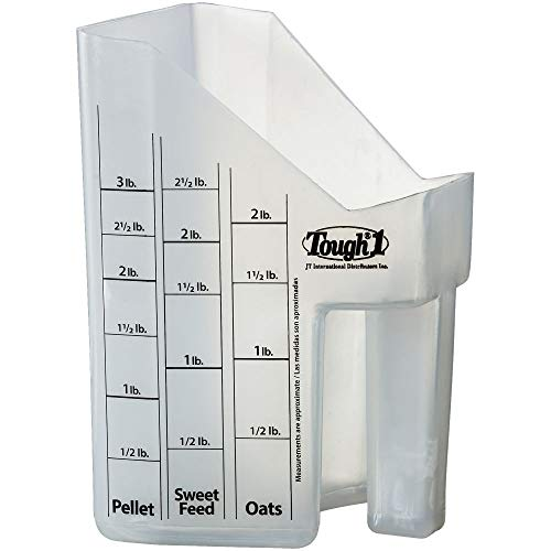 Tough-1 Clear Equine Livestock Food Pellet Sweet Feed Oats Grain Measuring Scoop (Sweet Feed For Horses)