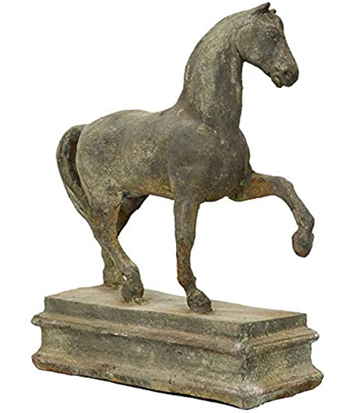 Eisen-Rost Pferdekopf Skulptur für Pfosten und Mauerpfeiler Gartendeko Pferd