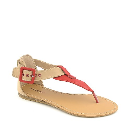 Bambus Kvinners Steno-73 Sandal Red