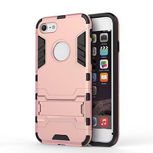 OuDu iPhone 7 Hülle, Rüstungs Series Hülle für iPhone 7 TPU Silikon Etui Matte Harte Rückseite Schutzhülle Hard Tough Case Cover Hybride Dual-Layer Shell Logo Ausschneiden Tasche Schwerlast Handytasch