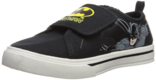 Batman Athletic Shoe (Batman Toddler Boys Canvas Casual shoe, 13 M US Toddler)