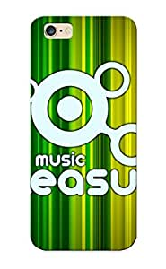 Exultantor Rugged Skin Case Cover For Iphone 6 Plus- Eco-friendly Packaging(music Is Pleasure ) Kimberly Kurzendoerfer