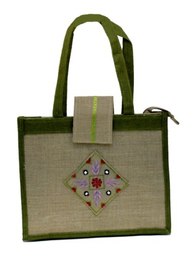 (Jute/ Burlap Beach Embroidered Tote Bag Zippered Closure Holiday Gift Shoulder Hand Bags )