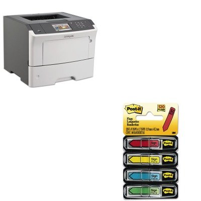 KITLEX35S0400MMM684SH - Value Kit - Lexmark MS610dn Laser Printer (LEX35S0400) and Post-it Arrow Message 1/2amp;quot; Flags (MMM684SH)