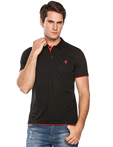 COOFANDY Mens Casual Short Sleeve Slim Fit T-Shirt Contrast Color Sports Polo Shirts