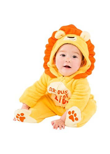 Baby Boys' Plush Fleece Lion Costume Coverall with Footies]()
