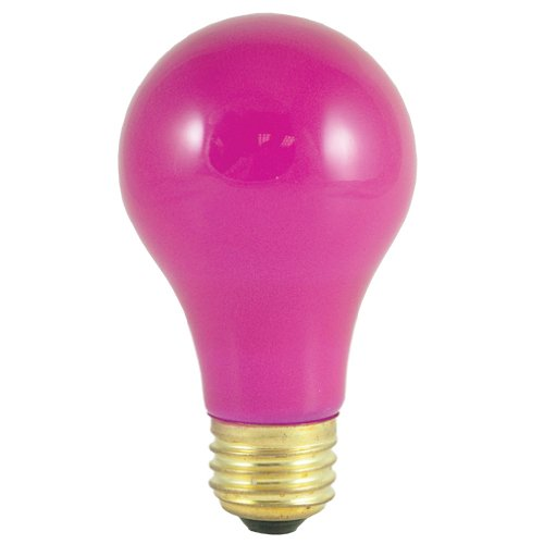 Bulbrite 106625 - 12PK - 25W - A19 - Medium Base - 120V - 2700K - 1,500Hrs - Ceramic Pink - Incandescent Light Bulbs -