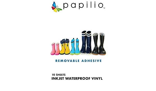 "8.5/""x11/"" Waterproof Papilio Inkjet Printable White Vinyl 20 Sheets"