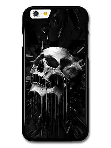 Melting Skull Black and White Awesome Gothic Grunge Picture coque pour iPhone 6 6S