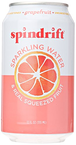 Make skinny white wine cocktail recipes with Spindrift Seltzer Water, Grapefruit, 12 oz Cans (Pack of 4)