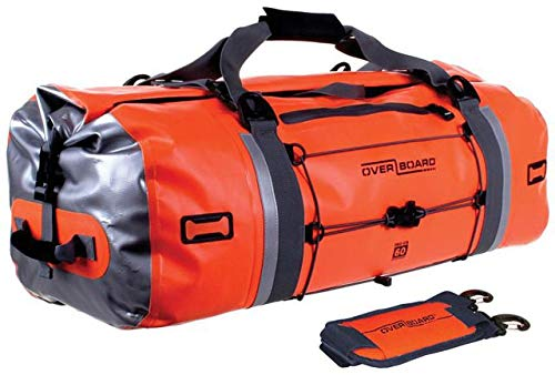 OverBoard Waterproof Pro-Vis Duffel Bag, Orange, 60-Liter