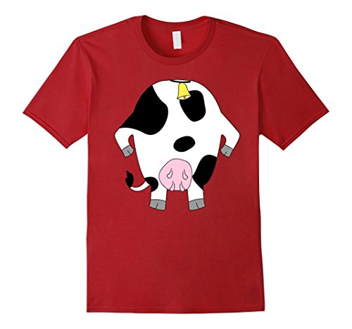 Mens Funny Cow Costume Shirt - Hilarious Easy Halloween Gift Tee Large (Easy Hilarious Halloween Costumes)