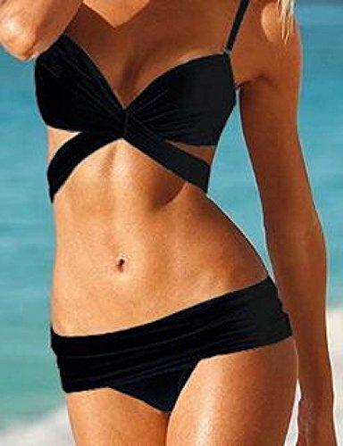 TAOZHN Bikini Femenino S M L Deportes Acuáticos Playa Cómodo De Secado Rápido Del Bikini De Alta Calidad Black