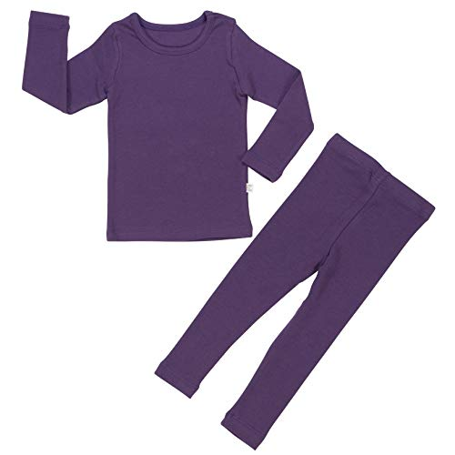 Baby Boys Girls Pajama Set 6M-8T Kids Cute Toddler Snug fit Pjs Cotton Sleepwear (Purple-1 Medium(90)/2T)