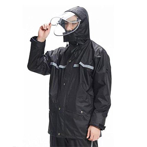 Lavoro Tuta set Riutilizzabile Unisex Pioggia Rainwear Da Per Antivento Impermeabile Uomo Pantaloni All'aperto Giacca Antipioggia Outdoor Al Piumino Incappucciato E Degli Adulti 85YOqw