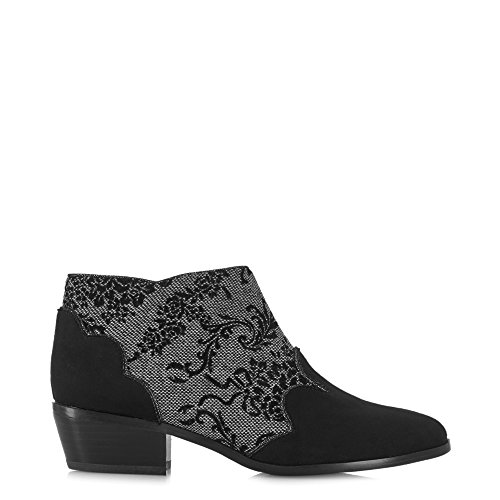 Free Heel Juliette Boots Divino Black Ankle Low Shoo Sole Ruby Belle Women's Protector amp; xwgU8pA